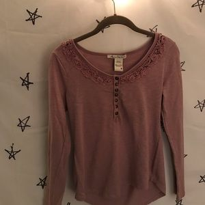 American Rag Long Sleeve with Lace Details